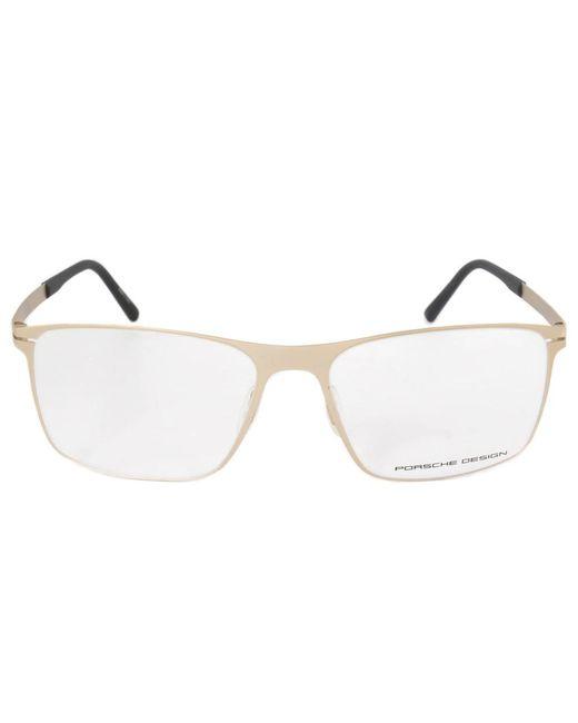 Lyst - Porsche Design P8256 B Square | Matte Light Gold| Eyeglass ...