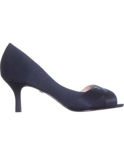 4289526f84a ... Nina - Blue Contesa Peep Toe D orsay Kitten Pumps