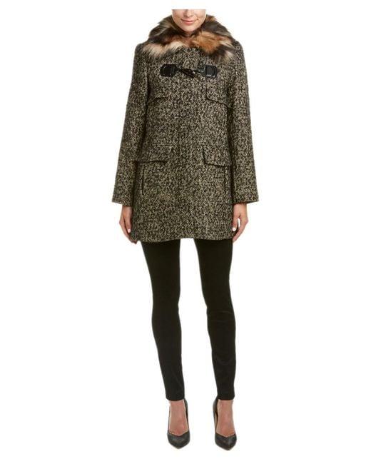 Trina Turk | Gray Wool & Alpaca-blend Coat | Lyst