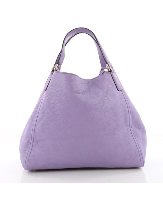 ... Gucci - Purple Pre Owned Soho Shoulder Bag Leather Medium - Lyst ... 4d81cbeebc582