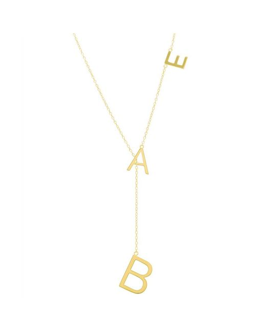 Adornia - Yellow Gold Vermeil Bae Lariat Necklace - Lyst