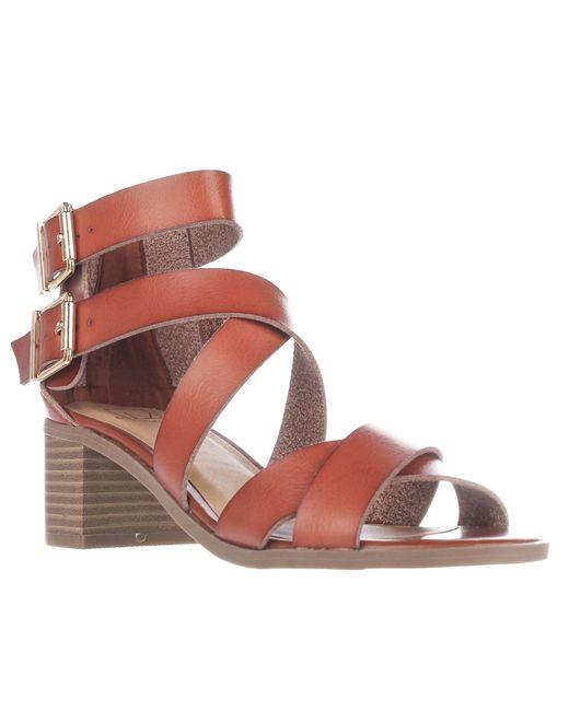 Material Girl - Multicolor Mg35 Danee Block Heel Strappy Sandals, Cognac - Lyst