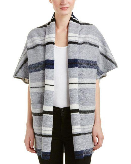 10 Crosby Derek Lam - Gray Blanket Wool Cardigan - Lyst