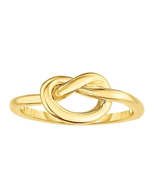 JewelryAffairs - 14k Yellow Gold Lovers Love Knot Pretzel Ring, Size 7 - Lyst