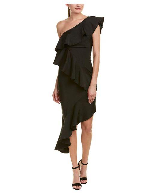 Wow Couture - Black Midi Dress - Lyst
