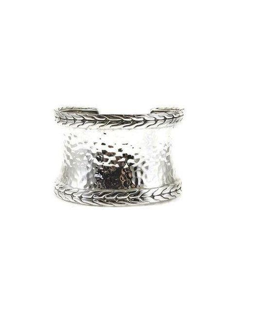 John Hardy - Metallic Sterling Silver Wide Palu Cuff Bracelet - Lyst