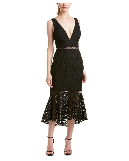 Nicholas - Black Midi Dress - Lyst