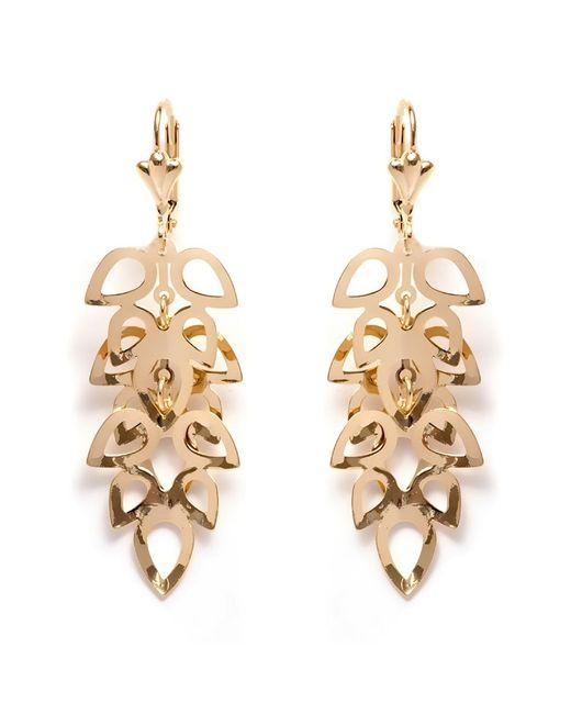 Lyst Peermont 18k Gold Plated Leaf Vine Drop Earrings In