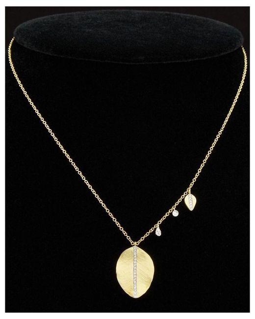 Meira T - Black 14k 0.18 Ct. Tw. Diamond Necklace - Lyst