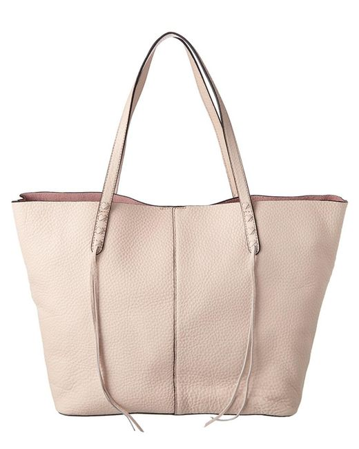 Rebecca Minkoff - Natural Medium Unlined Leather Tote - Lyst