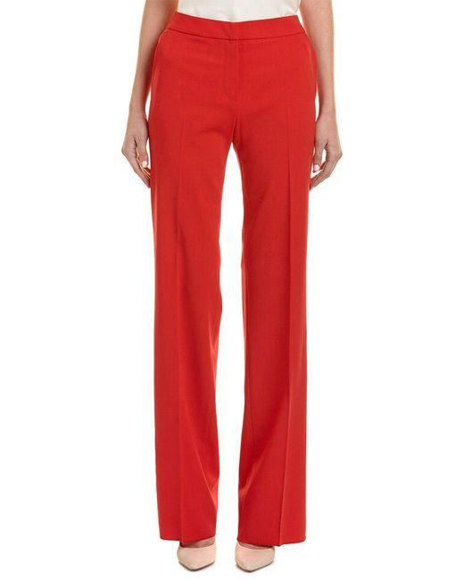 Max Mara - Red Wool-blend Pant - Lyst