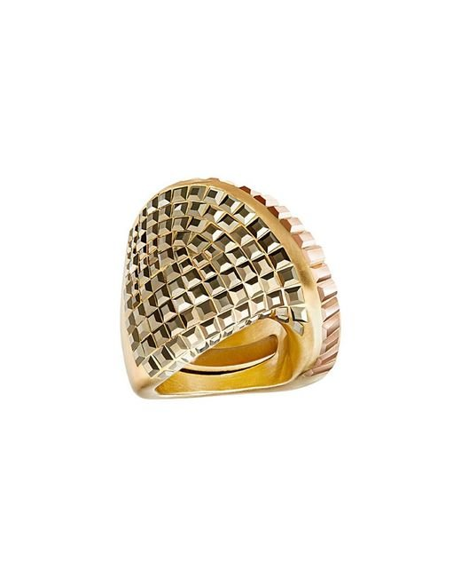 Swarovski - Metallic Crystal Plated Stainless Steel Ring - Lyst