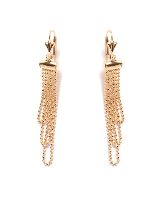 Peermont - Metallic Gold Dangling Bead Earrings - Lyst