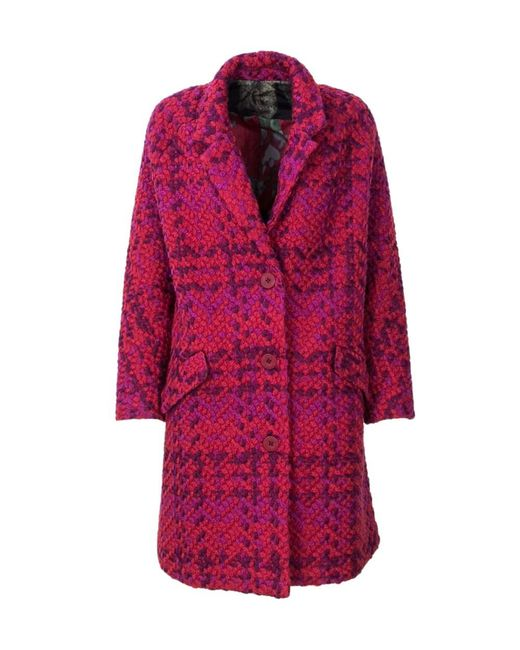 Desigual - Women's 18wwewbured Red Polyester Coat - Lyst