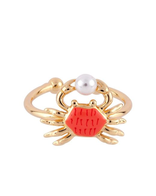 Les Nereides - Red I Am A Mermaid Little Crab Adjustable Ring - Lyst