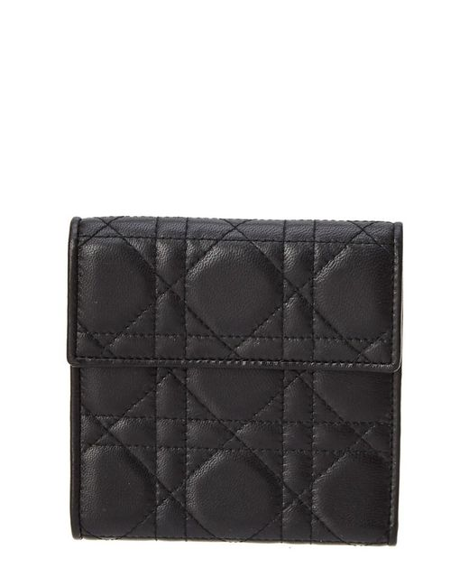 Dior - Black Lambskin Leather Wallet - Lyst