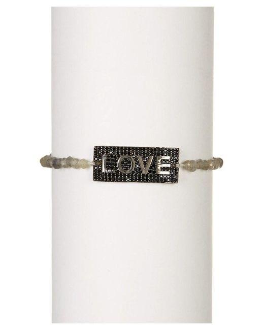 Adornia - Black Spinel And Labradorite Love Bracelet - Lyst
