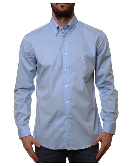 Etro | Men's 125973400250 Light Blue Cotton Shirt for Men | Lyst