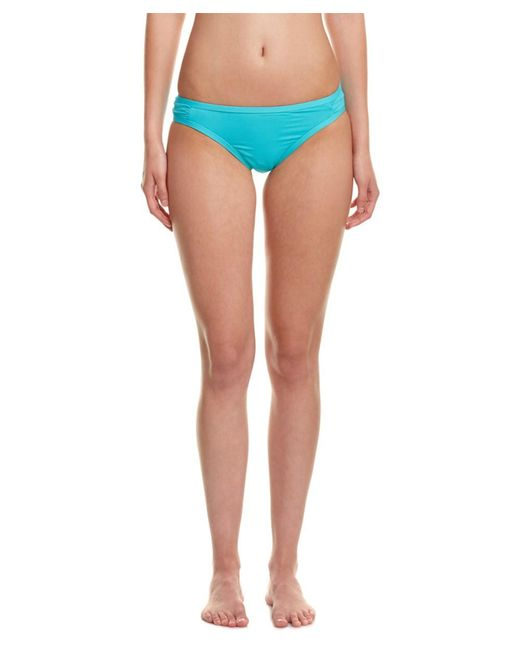 Kensie - Blue Solid Bikini Bottom - Lyst