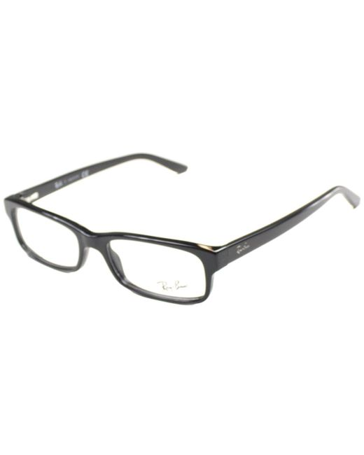 Ray-Ban - Rx5187 2000 50mm Black Rectangular Eyeglasses - Lyst