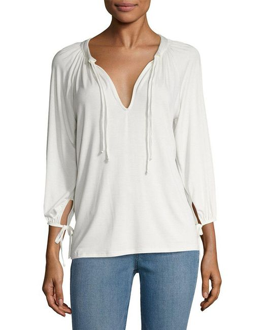 Rachel Pally - White Mei Solid Peasant Top - Lyst