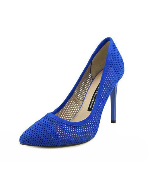 French Connection   Blue Monet Bin Women Peep-toe Synthetic Heels   Lyst