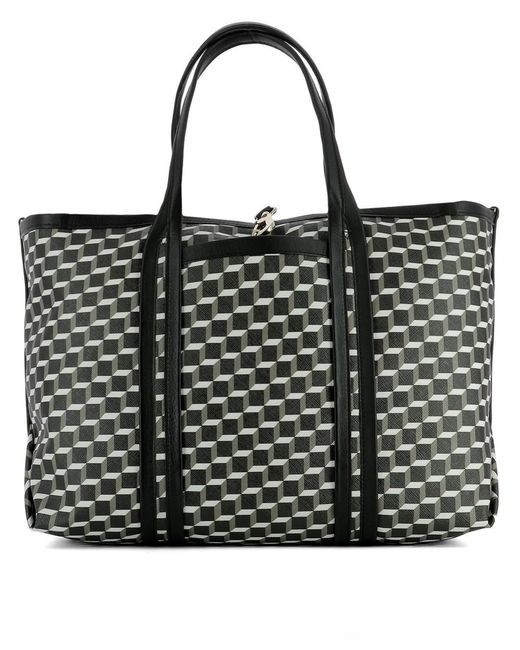 Pierre Hardy | Black Tricolor Perspective Cube Tote | Lyst