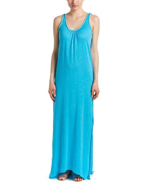 Calypso St. Barth - Blue Livoria Linen Maxi Dress - Lyst
