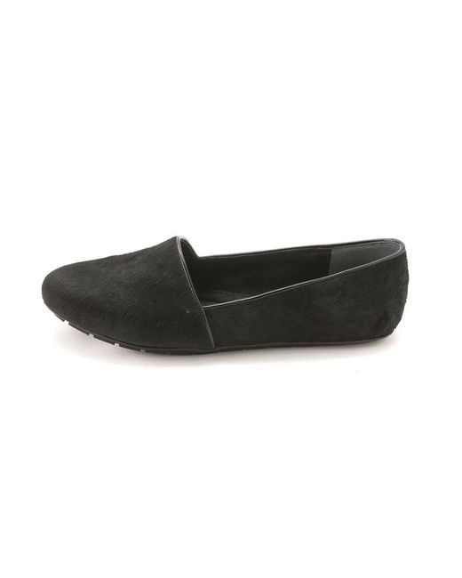 Kenneth Cole   Black Womens Jayden Calf Hair Closed Toe Loafers   Lyst