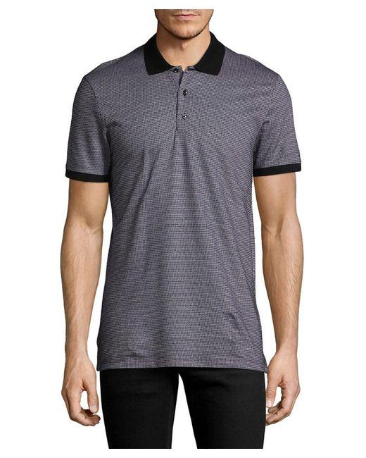 Antony Morato - Gray Geometric Polo Shirt for Men - Lyst