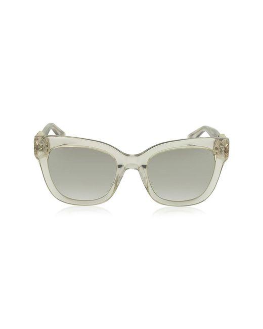 Jimmy Choo - Brown Women's Beige Acetate Sunglasses - Lyst