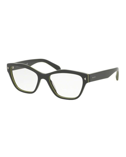 bc129f33ff1 Lyst - Prada Sport Pr27sv Cat Eye Women Eyeglasses Grey demo Lens in ...