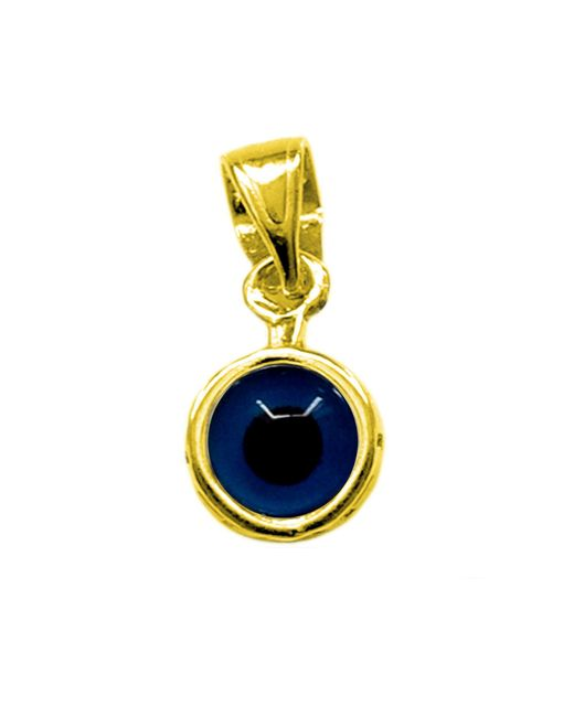 JewelryAffairs - Metallic Sterling Silver 18 Karat Gold Overlay Plated Greek Meandros Evil Eye Pendant - Lyst