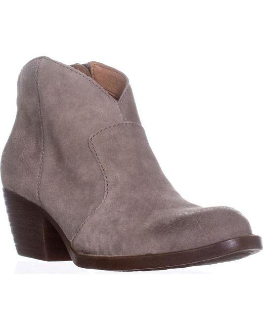 Born - Gray Michel Short Western Ankle Boots, Grey - Lyst