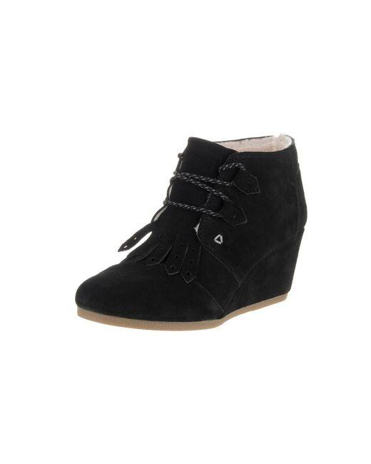 TOMS - Black Women's Desert Wedge Boot - Lyst