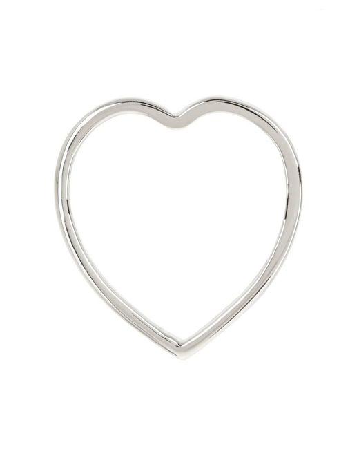 Adornia - Metallic Sterling Silver Flat Heart Ring - Lyst