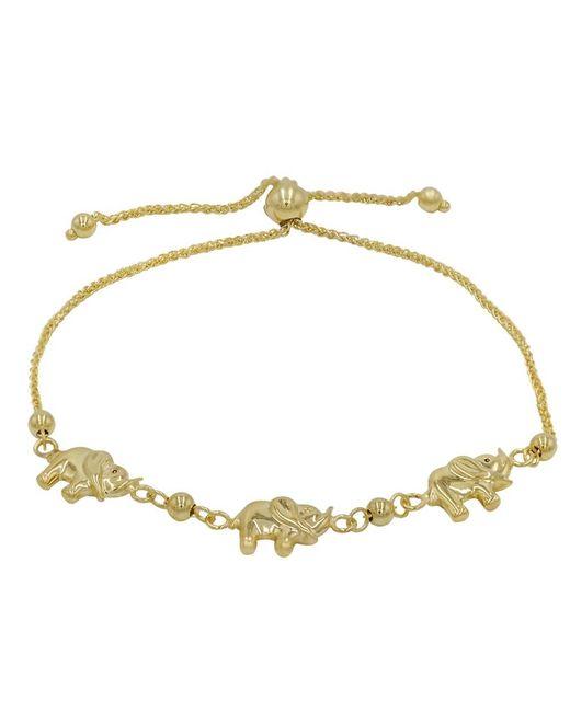 Amanda Rose Collection - Metallic Amanda Rose Elephant Bolo Bracelet In 14k Yellow Gold (adjustable) - Lyst