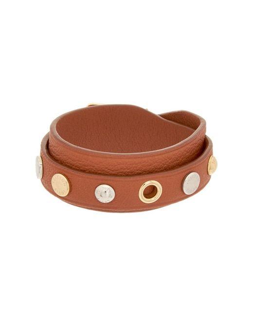 Louis Vuitton | Brown Leather Spike It Bracelet | Lyst
