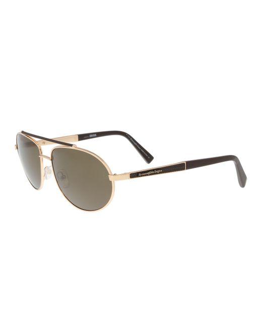 Ermenegildo Zegna - Metallic Ez0037/s 28m Gold Aviator Sunglasses for Men - Lyst