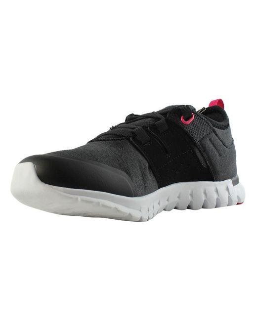 709c748abdd5 ... Reebok - Womens Sublite Authentic 2.0 Mt Black Running Shoes - Lyst ...