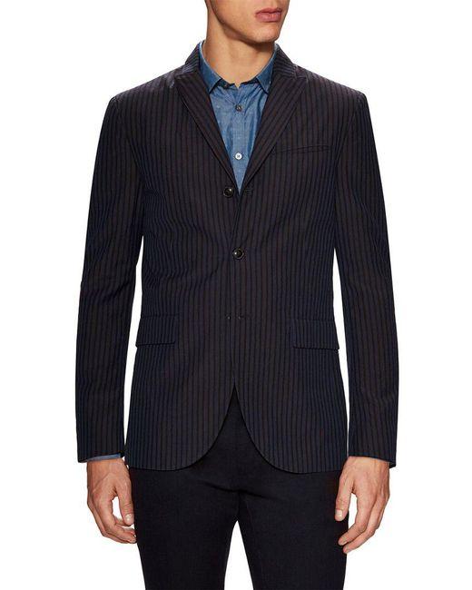 John Varvatos - Blue John Varvatos Star Usa Linen Convertible Peak Lapel Cut Away Sportcoat for Men - Lyst