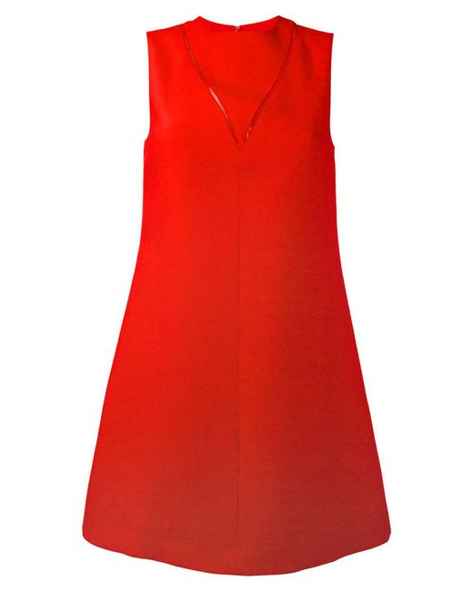 Valentino | Women's Red Cotton Dress | Lyst