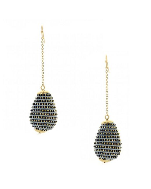 Sparkling Sage - Multicolor 14k Plated Drop Earrings - Lyst