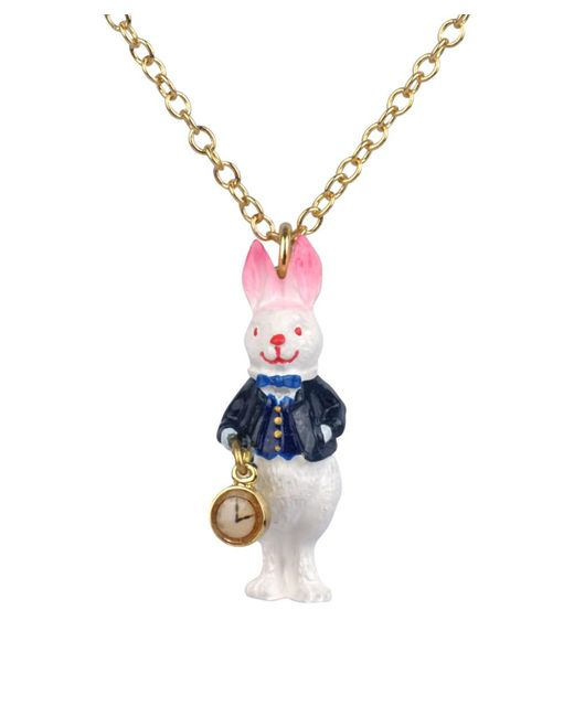 Les Nereides | Metallic Alice's Tea Time Rabbit Short Necklace | Lyst