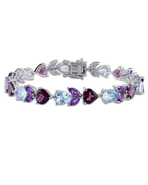 Julianna B   Metallic Blue Topaz - Sky Amethyst Rhodolite-garnet Bracelet   Lyst