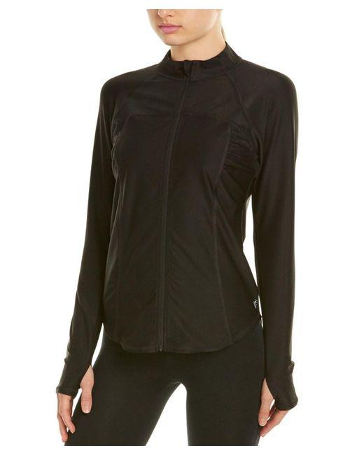 Betsey Johnson | Black Mesh Insert Jacket | Lyst