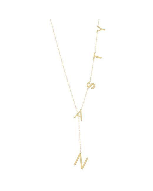 Adornia - Yellow Gold Vermeil Nasty Lariat Necklace - Lyst