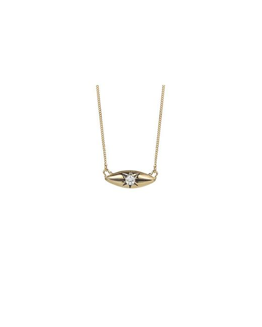Jewelista   Diamond Marquise Station Necklace In 14k Yellow Gold (0.10cts, H-i I1)   Lyst