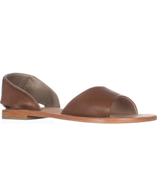 Kelsi Dagger Brooklyn - Brown Brooklyn Clarkson Flat Sandals, Cinnamon - Lyst