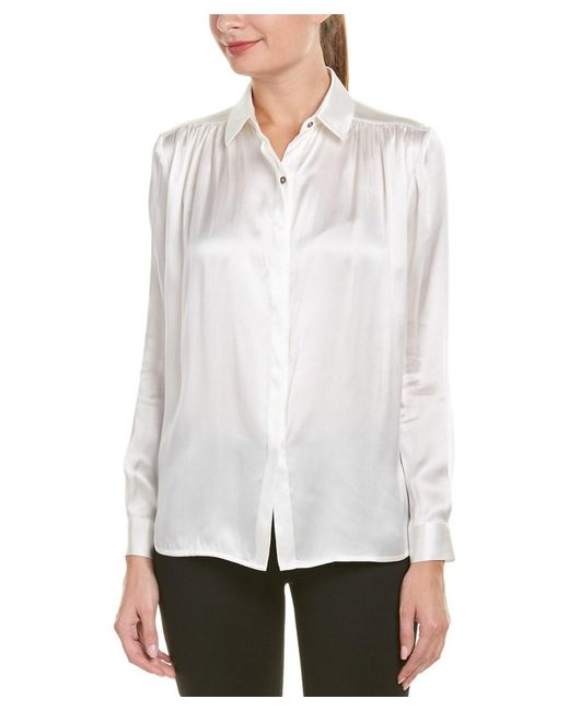 Jay Godfrey - White Silk Blouse - Lyst